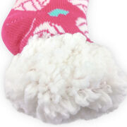 Volleyball Slipper Socks with Sherpa Lining