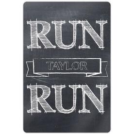 """Running 18"""" X 12"""" Aluminum Room Sign - Run Your Name Run"""