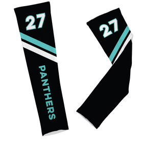 Football Printed Arm Sleeves Football Team Name and Number