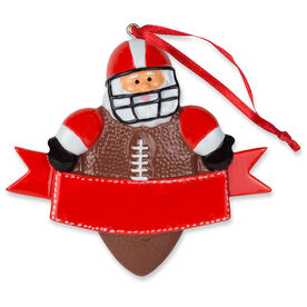 Football Ornament - Football Santa