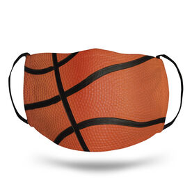 Basketball Face Mask - Basketball Texture