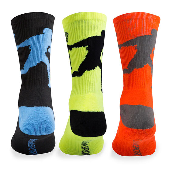 Lacrosse Woven Mid-Calf Sock Set - Player Bright