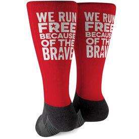 Running Printed Mid-Calf Socks - We Run Free