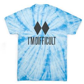 Skiing & Snowboarding Short Sleeve T-Shirt - I'm Difficult Tie Dye