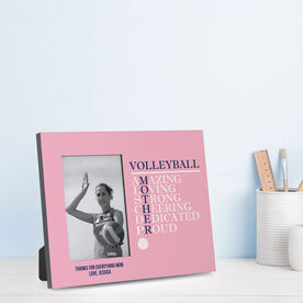 Volleyball Photo Frame - Mother Words