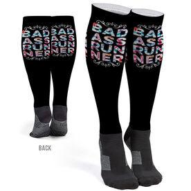 Running Printed Knee-High Socks - Badass Runner Colorful