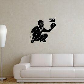 Baseball Catcher Removable ChalkTalkGraphix Wall Decal