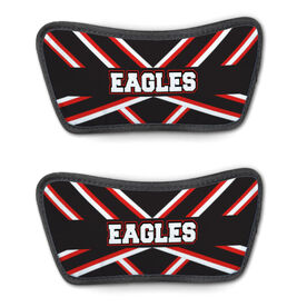 Cheerleading Repwell™ Sandal Straps - Cheer Stripes With Text