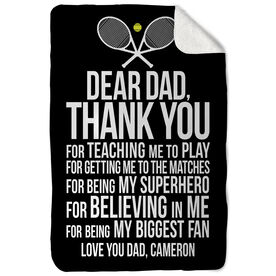 Tennis Sherpa Fleece Blanket - Dear Dad