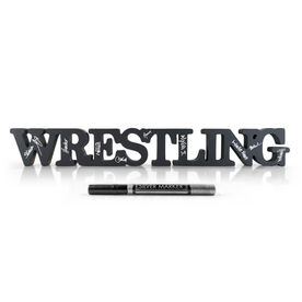 Wrestling Ready For Team Autograph Wood Words