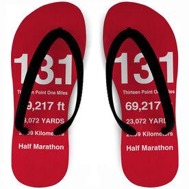 Running Flip Flops 13.1 Math Miles