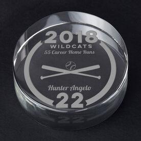 Baseball Personalized Engraved Crystal Gift - Custom Team Award