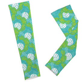 Volleyball Printed Arm Sleeves Volleyball Tropical Leaves