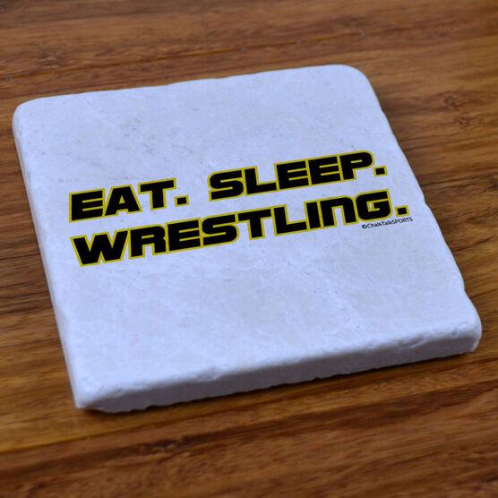 Eat, Sleep, Wrestling - Stone Coaster