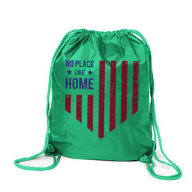 Softball Sport Pack Cinch Sack - No Place Like Home