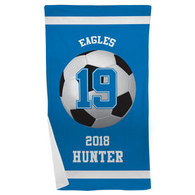 Soccer Beach Towel Personalized Team