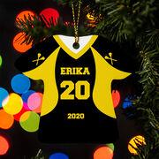 Girls Lacrosse Ornament - Personalized Jersey