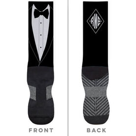 Personalized Printed Mid-Calf Socks - Big Day Tux