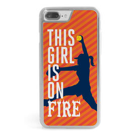Softball iPhone® Case - This Girl Is On Fire Pitcher
