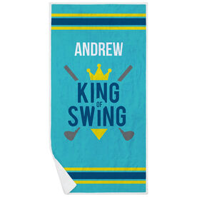 Golf Premium Beach Towel - King of Swing