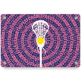 Girls Lacrosse Metal Wall Art Panel - Mantra Spiral