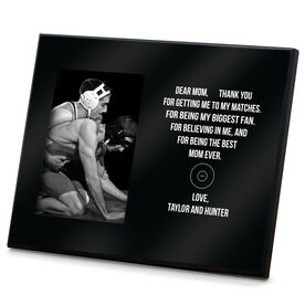 Wrestling Photo Frame - Dear Mom Heart