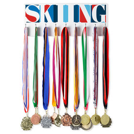 Skiing Hooked on Medals Hanger - Skiing Mosaic