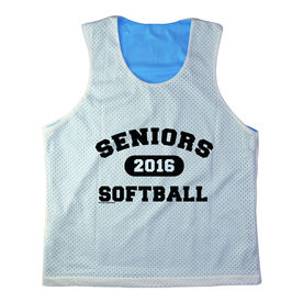 Girls Softball Racerback Pinnie Personalized Seniors Softball Black