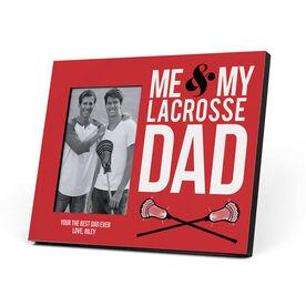 Guys Lacrosse Photo Frame - Me & My Lacrosse Dad