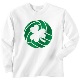 Volleyball Tshirt Long Sleeve Shamrock Volleyball