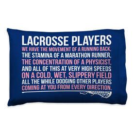 Girls Lacrosse Pillow Case  - Lacrosse Players