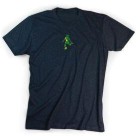 Soccer Tshirt Short Sleeve Soccer Silhouette Girl