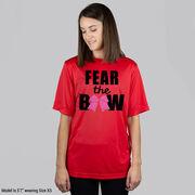 Cheerleading Short Sleeve Performance Tee - Fear the Bow