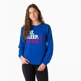 Figure Skating Tshirt Long Sleeve - Eat. Sleep. Skate