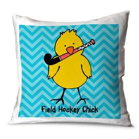 Field Hockey Throw Pillow Field Hockey Chick