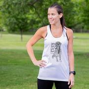 Women's Racerback Performance Tank Top - Life's Short. Let's Run