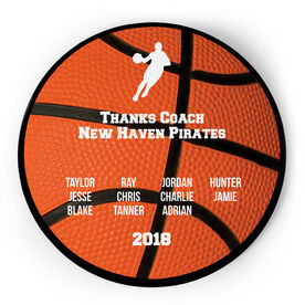 Basketball Circle Plaque - Male Team Roster