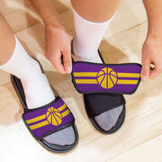 Basketball Repwell® Sandal Straps - Team Color Stripes