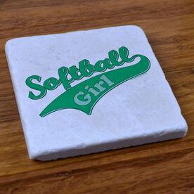 Softball Girl - Stone Coaster