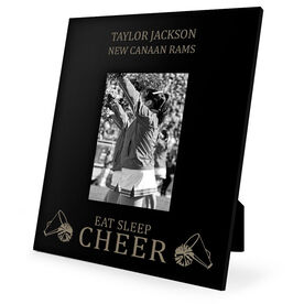 Cheerleading Engraved Picture Frame - Eat Sleep Cheer