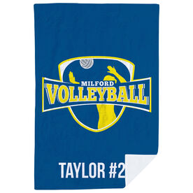 Volleyball Premium Blanket - Custom Team Logo