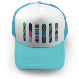 Snowboarding Trucker Hat - Colorful