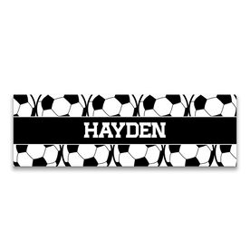 """Soccer 12.5"""" X 4"""" Removable Wall Tile - Personalized Ball"""