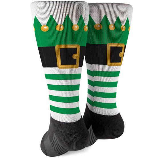 Printed Mid-Calf Socks - Christmas Elf