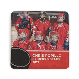 Hockey Stone Coaster - Team Photo with Puck