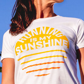 Women's Everyday Runners Tee - Running is My Sunshine