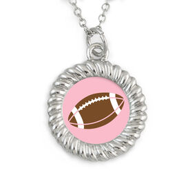 Braided Circle Necklace Football