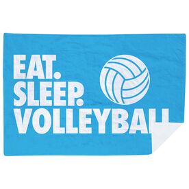 Volleyball Premium Blanket - Eat. Sleep. Volleyball. Horizontal