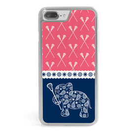 Girls Lacrosse iPhone® Case - Lax Elephant with Crossed Sticks