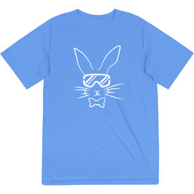 Skiing Short Sleeve Performance Tee - Hopster Ski Bunny
